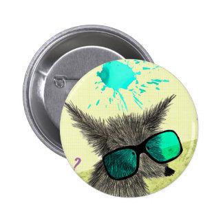 """""""Wolf Dude"""" 2 Inch Round Button"""