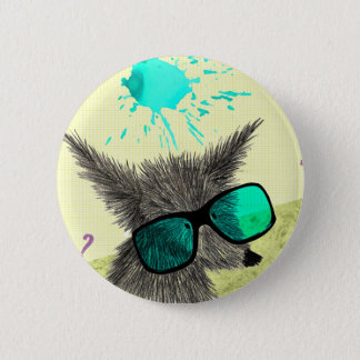"""Wolf Dude"" Pinback Button"