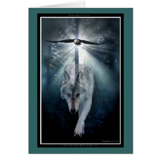 Wolf & Eagle Animal Lover PEACE Greeting-card