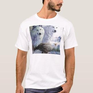 Wolf Eagle Animals Nature Park Office Business Art T-Shirt