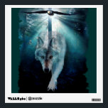 """Wolf &amp; Eagle Fantasy  Wildlife Art Wall Decal<br><div class=""""desc"""">A beautiful fantasy scene features a wild Grey Wolf and a Bald Eagle representing both Wolf &amp; Eagle Clans,  traveling through the forest to a Clan Gathering. Artwork by Skye Ryan-Evans &#169;.</div>"""