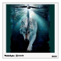 Wolf & Eagle Fantasy  Wildlife Art Wall Decal
