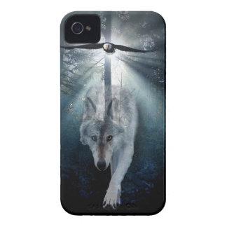 Wolf & Eagle Wildlife Art Phone Case