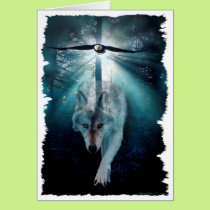 WOLF & EAGLE Wildlife Series Card