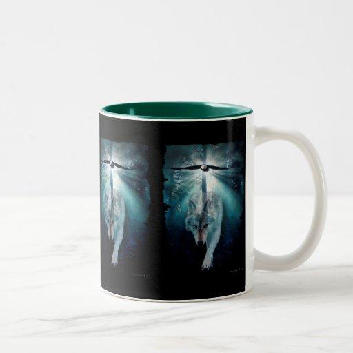 WOLF & EAGLE Wildlife Series Coffee Mugs Zazzle