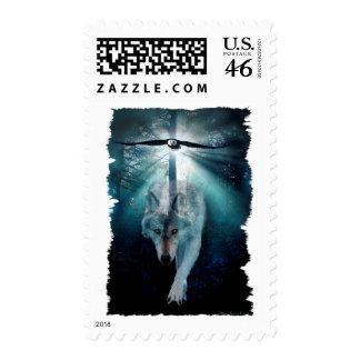 WOLF & EAGLE Wildlife Series Stamp