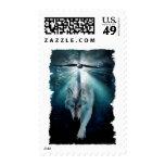 WOLF & EAGLE Wildlife Series Postage Stamp