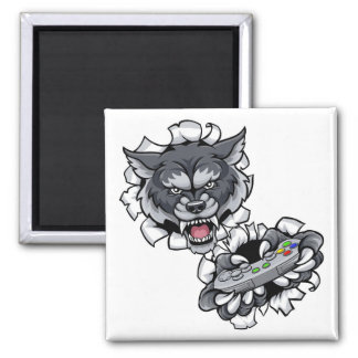 Wolf Esports Gamer Animal Mascot Magnet
