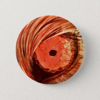 Wolf Eye orange Pinback Button