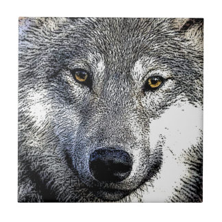 Wolf Eyes Artwork Ceramic Tile