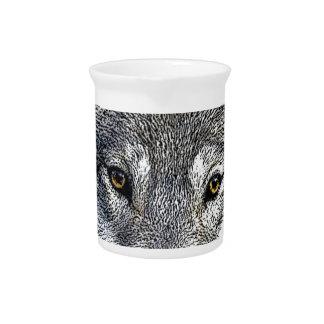 Wolf Eyes Artwork Drink Pitcher