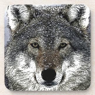 Wolf Eyes Beverage Coaster