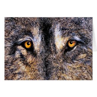 Wolf Eyes Card