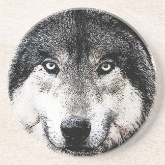 Wolf Eyes Drink Coaster