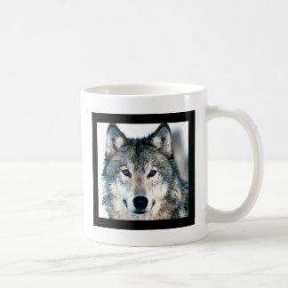 Wolf Eyes in woods wild nature animal Print Coffee Mug