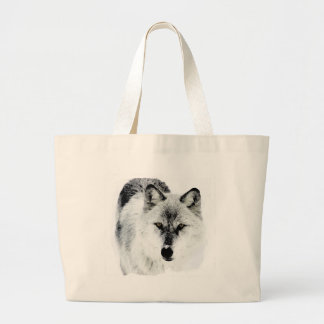 Wolf Eyes Jumbo Tote Bag