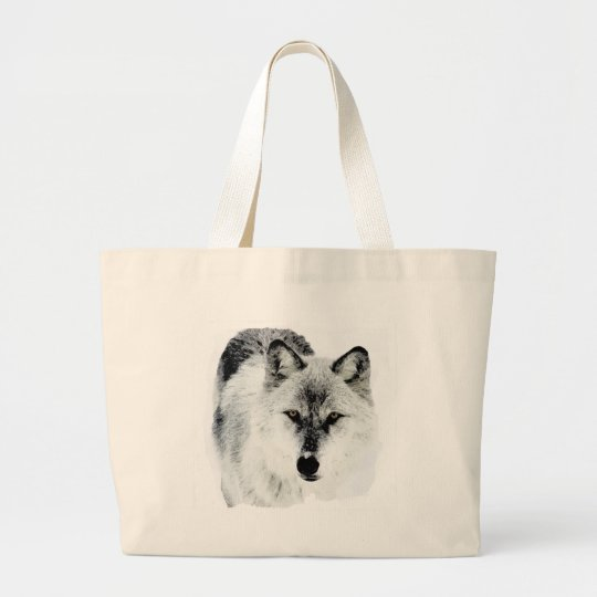 Wolf Eyes Large Tote Bag