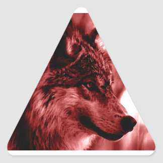 Wolf Eyes & Moon Triangle Sticker