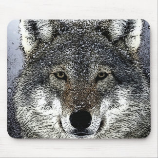 Wolf Eyes Mouse Pad