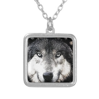 Wolf Eyes Silver Plated Necklace