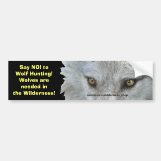 WOLF EYES Wildlife Conservation Bumper Sticker