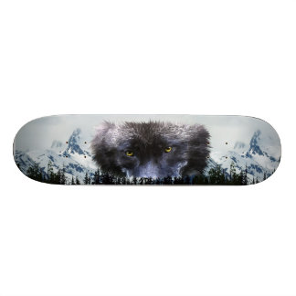 WOLF EYES Wildlife & Mountains Skateboard Deck