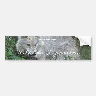 WOLF EYES Wildlife Supporter Bumper sticker