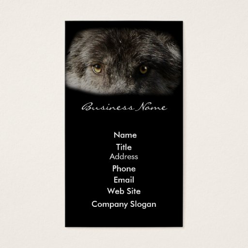 WOLF EYES Wildlife Supporter Business Card