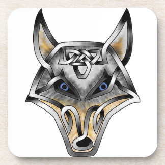 Wolf Face Beverage Coaster