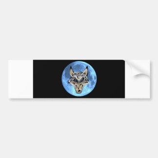 Wolf Face Bumper Sticker