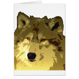 Wolf Face Greeting Card