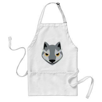 Wolf Face Cartoon Adult Apron
