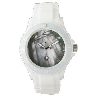 Wolf face in a sunbeam wrist watch
