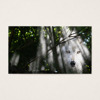 Wolf face in the sunbeam business card
