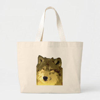 Wolf Face Large Tote Bag