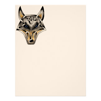 Wolf face letterhead templates