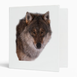 Wolf face lone ring binder