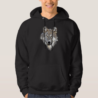 Wolf Face on Hoodie for Men