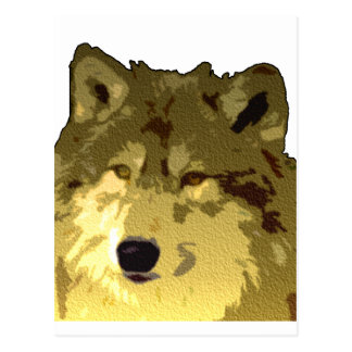 Wolf Face Post Card