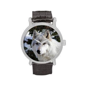 Wolf face wrist watch