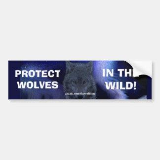 WOLF FACE Wildlife Conservation Bumper sticker
