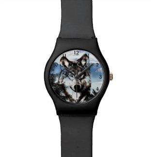 Wolf face wristwatch