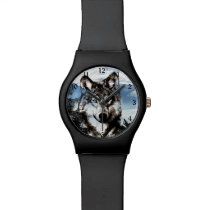 Wolf face wristwatches
