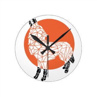 Wolf facet round clock