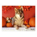 Wolf Fall Holiday Postcard