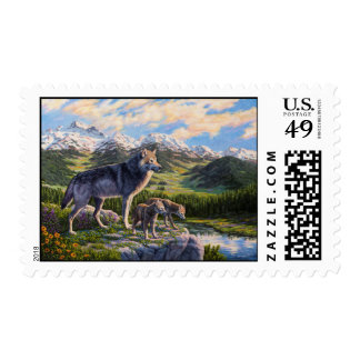 Wolf Family and River Valley Postage