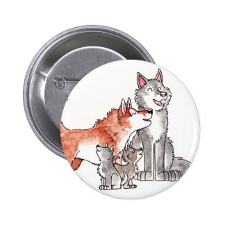 Wolf Family Button