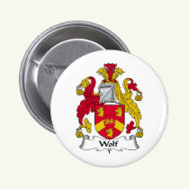 Wolf Family Crest Button
