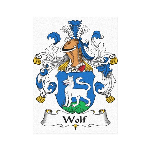 Wolf Family Crest Gallery Wrapped Canvas