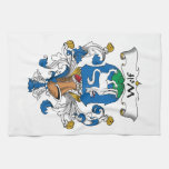 Wolf Family Crest Hand Towel